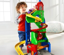 Fisher-Price Little People Трек Небоскреб гоночная трасcа 2 в 1